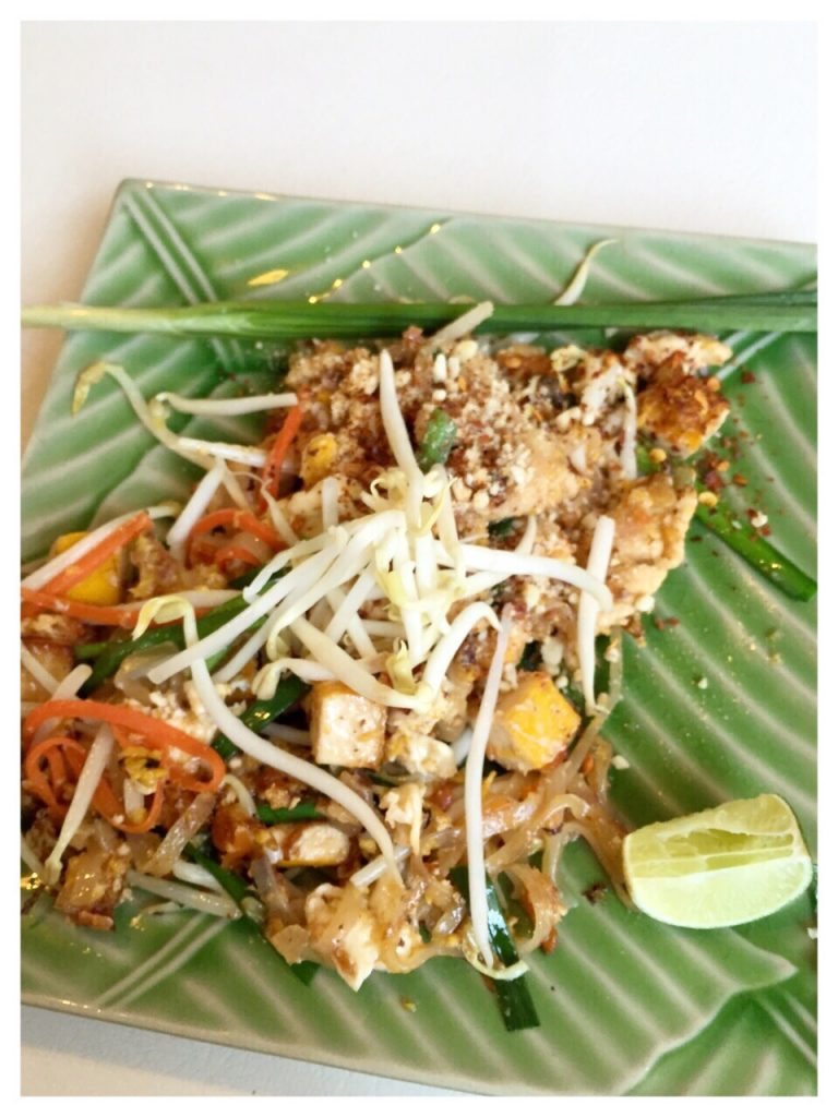Pad thai made by us on a cooking class