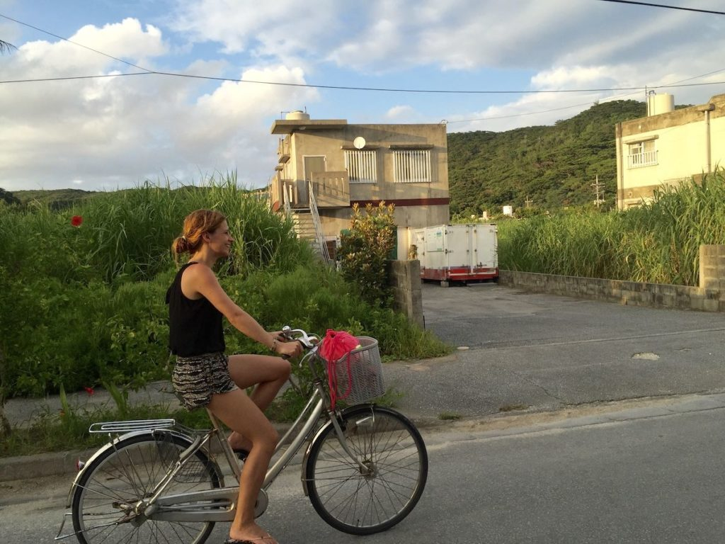 Biking at Zamami Island in Japan